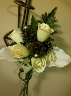 Rustic Wedding Decor - Handmade Roses -The Botanical Box