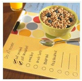 Checklist Placemat Craft