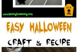 Easy Halloween Craft & Recipe on Food Wine Sunshine