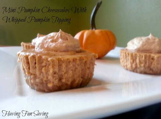 Mini Pumpkin Cheesecake with Pumpkin whipped topping recipe