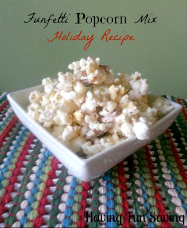 Funfetti Popcorn Mix Holiday Recipe