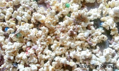 Funfetti Popcorn Mix Holiday Recipe