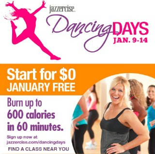 Jazzercise Classes Sale - Start for FREE Thru 1-14-14