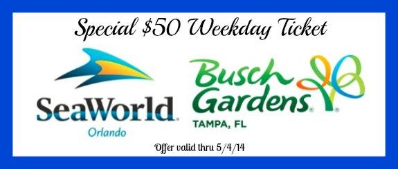 Busch Gardens & SeaWorld Weekday Ticket Just $50 #SeaWorld #BuschGardens