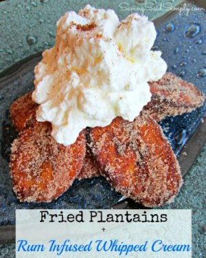 Sweet Fried Plantains & Rum Infused Whipped Cream Recipe