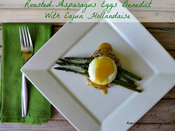 Roasted Asparagus Eggs Benedict With Cajun Hollandaise