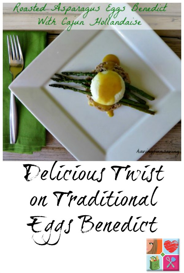 Roasted Asparagus Eggs Benedict With Cajun Hollandaise Recipe on Food Wine Sunshine and Cooking