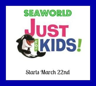 SeaWorld Just For Kids Festival Begins 3-22-14 #SeaWorld #JustForKids