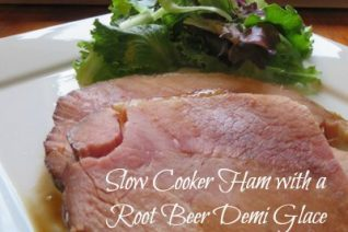 Slow Cooker Ham with Root Beer Demi Glace recipe