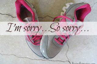 Dear Tennis Shoes, I'm Sorry