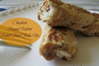 Chocolate Peanut Butter French Toast Roll Ups recipe