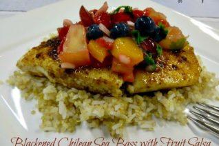 Blackened Chilean Sea Bass with Fruit Salsa Recipe