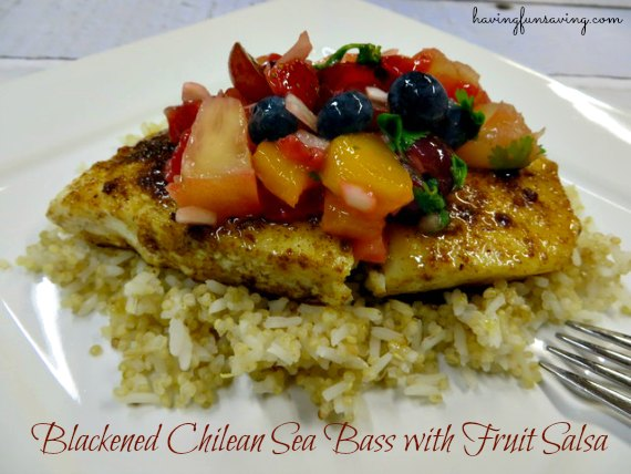 Blackened Chilean Sea Bass with Fruit Salsa Recipe