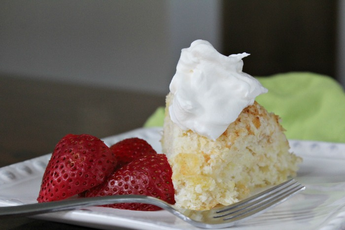Weight Watcher Approved Pineapple Angel Food Cake