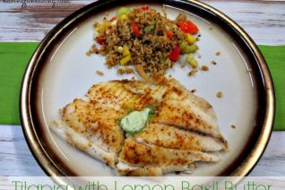 Tilapia with Lemon Basil Butter recipe