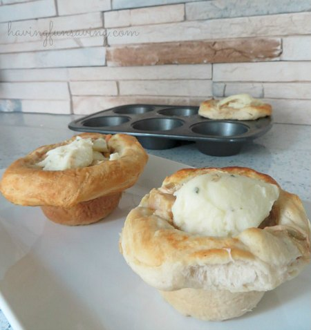 Chicken Pot Pie cupcakes recipe