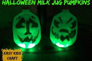 Halloween Milk Jug Pumpkins