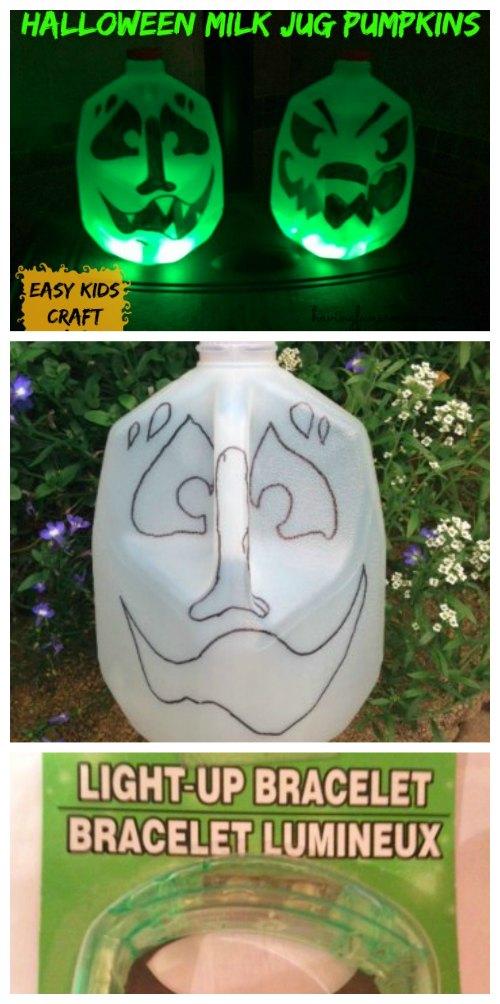 Halloween Milk Jug Pumpkins Kids Craft