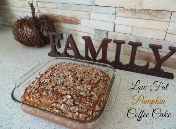 Low Fat Pumpkin Coffee Cake