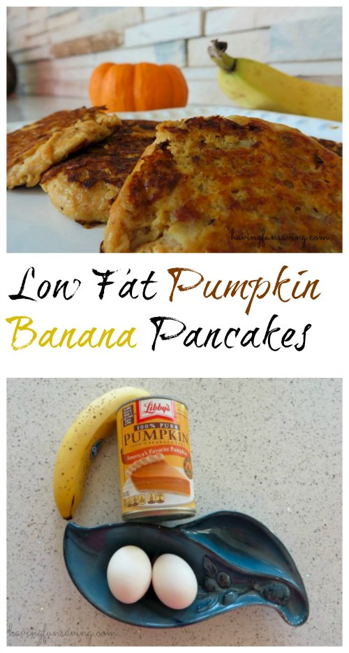 Low Fat Pumpkin Banana Pancakes Recipe
