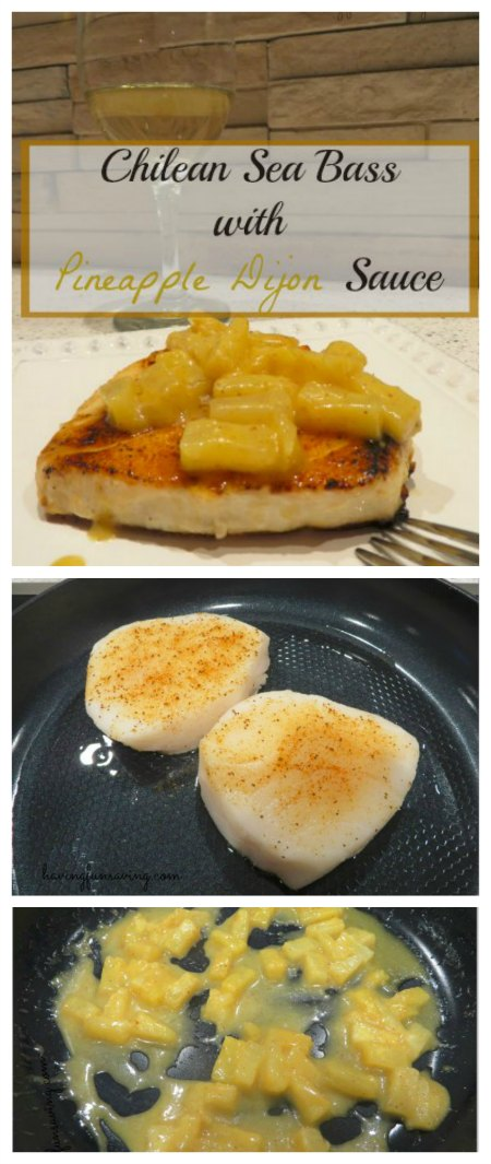 Chilean Sea Bass Recipe with Pineapple Dijon Sauce
