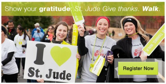 Register For St. Jude Give Thanks Walk #GiveThanksWalk