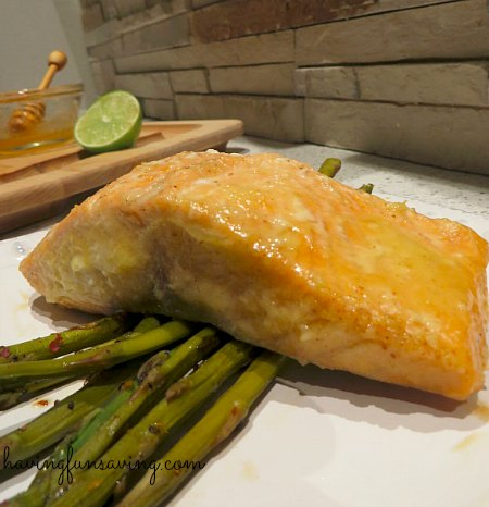 Honey Lime Baked Salmon