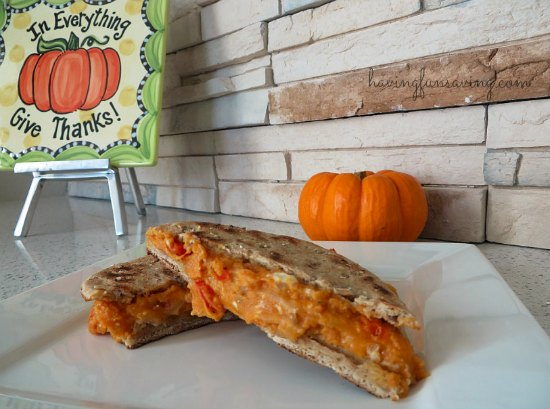 Low-Fat Pumpkin Grilled Cheese Sandwich