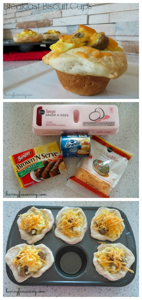 Egg and Sausage Breakfast Biscuits