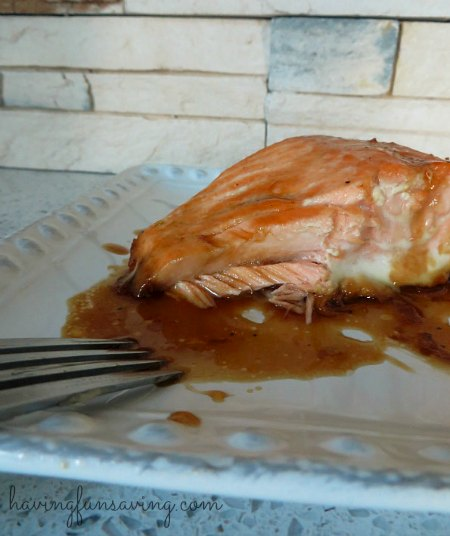 Recipe for Baked Salmon with Maple Glaze