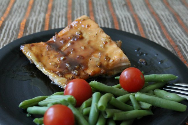 Easy Baked Salmon with Maple Glaze