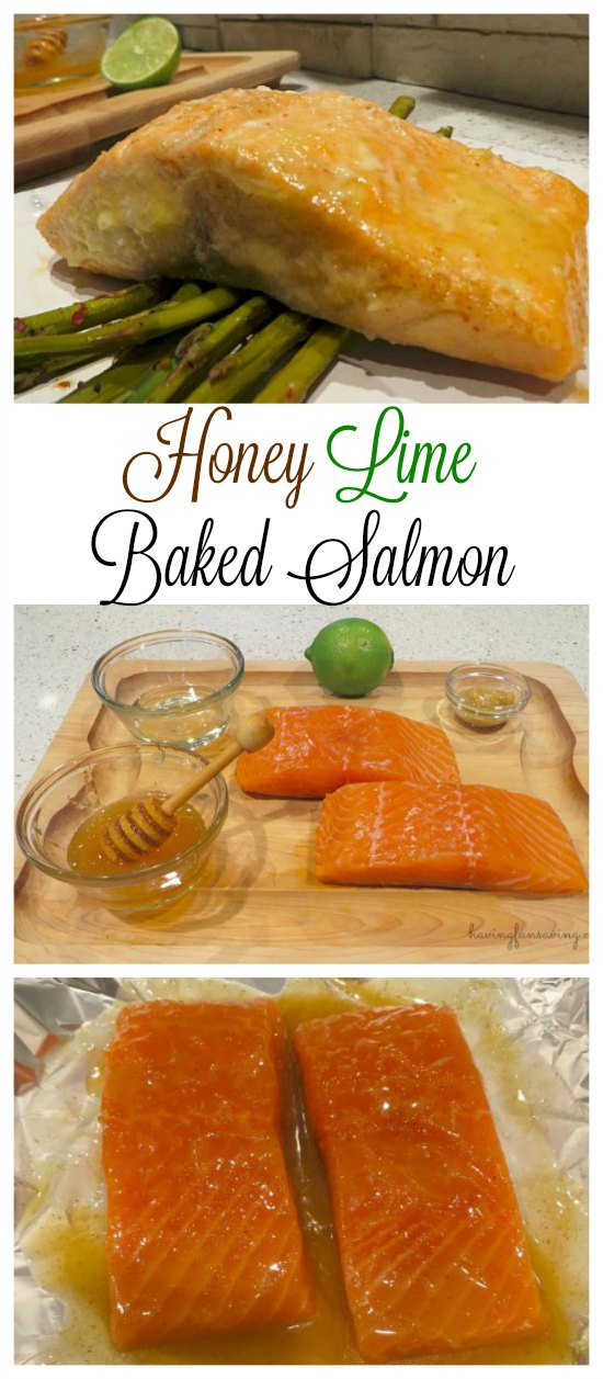 Honey Lime Baked Salmon In Foil Recipe on Food Wine Sunshine and Cooking