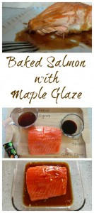 Baked Salmon with Maple Glaze