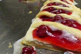 Candy Cane Fruit and Cream Cheese Danish Recipe