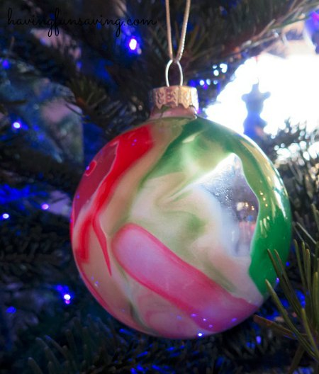Paint Swirl Ornament Kids Craft