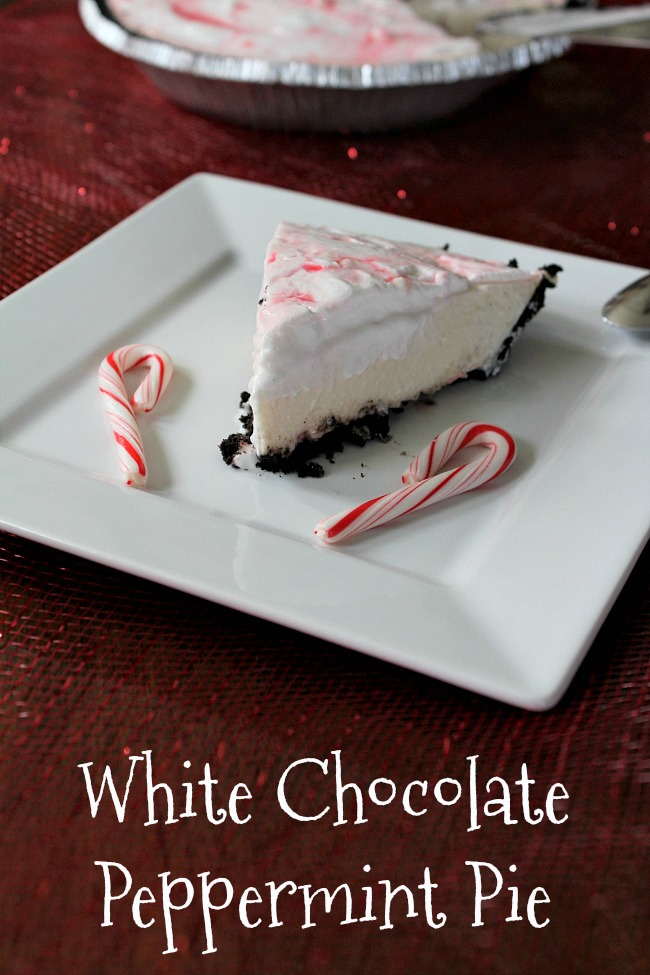 White Chocolate Peppermint Pie