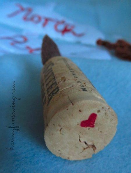 Cute Wine Cork Reindeer Craft