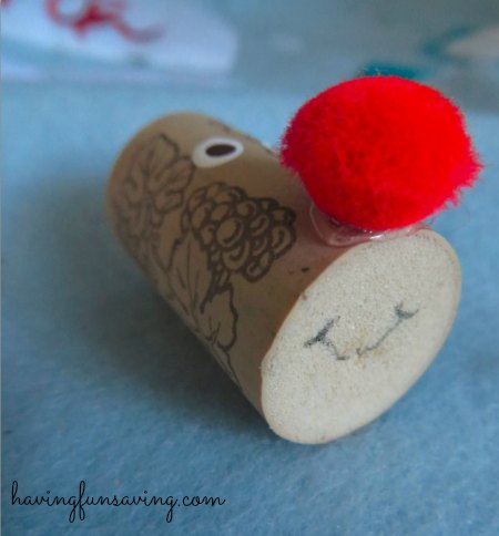 Easy Wine Cork Reindeer Craft