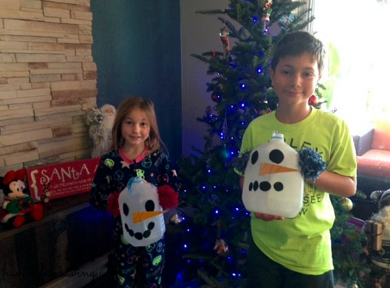 Snowman Milk Jugs Kids Craft