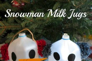 Snowman Milk Jugs Craft