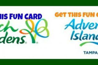 Busch Gardens & Adventure Island Fun Card Deal