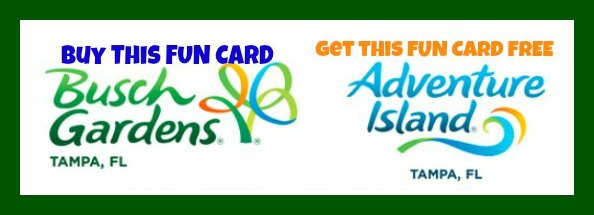 Busch Gardens & Adventure Island Fun Card Deal