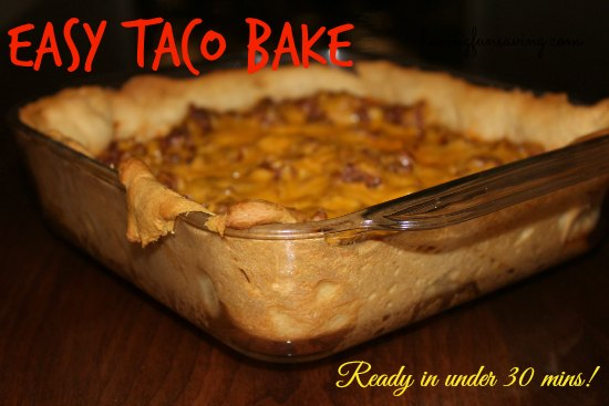 Taco Bake Recipe on Food Wine Sunshine and Cooking