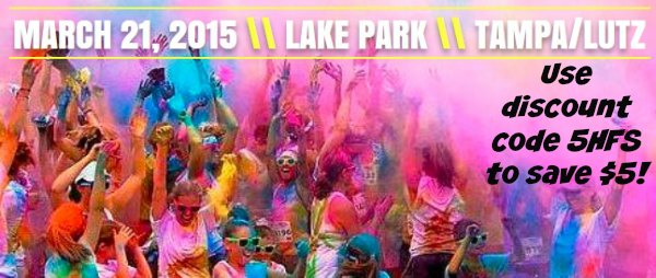 The 5k Color Run Discount Code #Tampa
