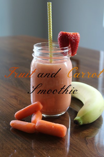 Fruit and Carrot Smoothie