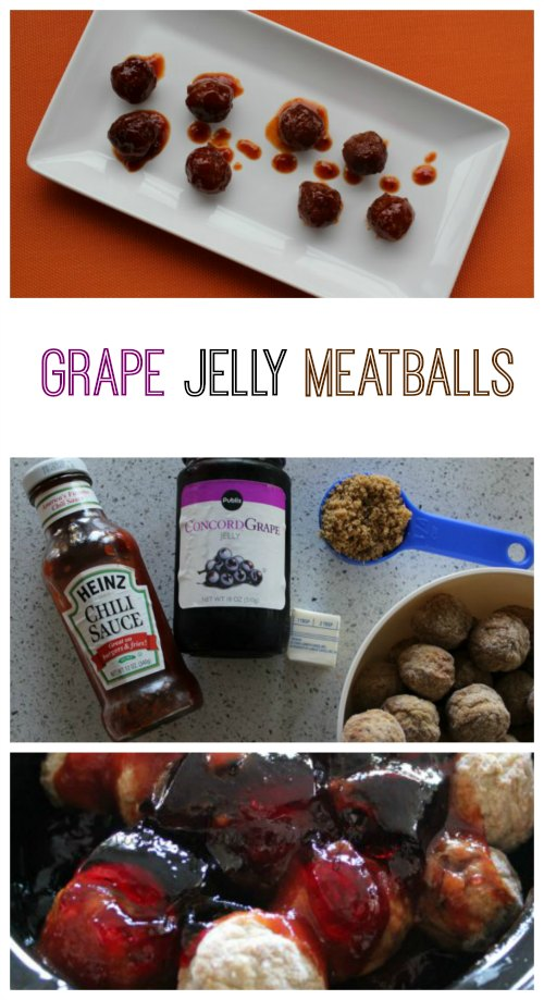 Grape Jelly Meatballs | These Grape Jelly Meatballs are so easy to make and are so good! This easy Grape Jelly Meatball recipe is only 5 ingredients and is prepped in about 5 mins. Read more dinner recipes, healthy recipes and easy recipes the whole family will love on foodwinesunshine.com | Food Wine Sunshine #easyrecipes #dinnerrecipes #dinnerideas #dinner #foodblog #foodblogger