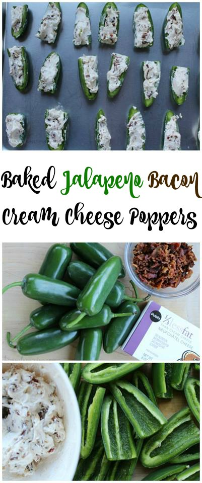 Best Baked Jalapeno Poppers with Cream Cheese and Bacon