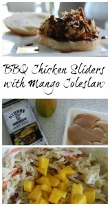 BBQ Chicken Sliders with Mango Coleslaw on Food Wine Sunshine
