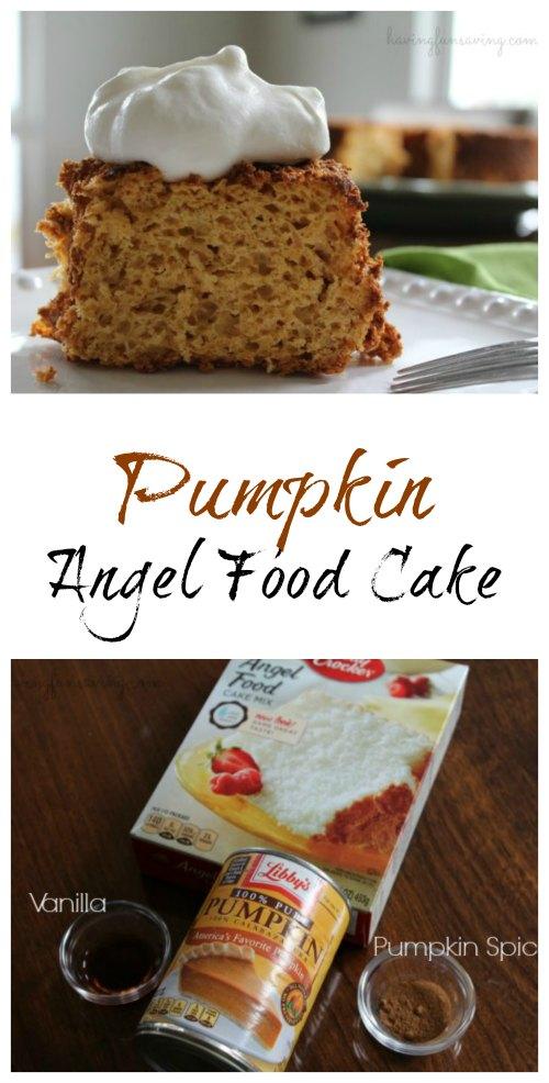 Weight Watchers Pumpkin Angel Food Cake