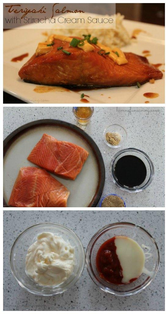 Teriyaki Salmon Recipe with Sriracha Cream Sauce Recipe